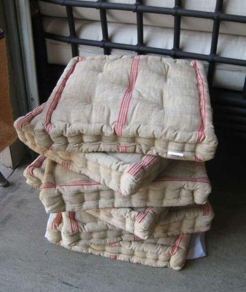 french mattress cushions Mattress tufted ticking stripe floor cushions Bambi I got the ...