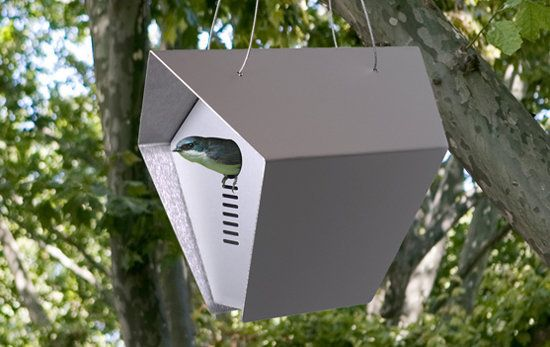 Hepper Roost Birdhouse : Stylish Mini Modern Bird House