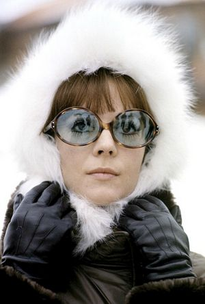 Natalie Wood in the French Alps, photo by Jean-Claude Deutsch, 1970