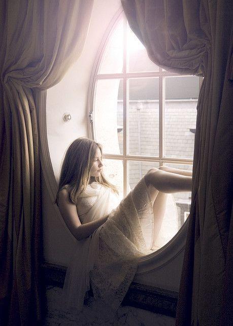 sitting in the window