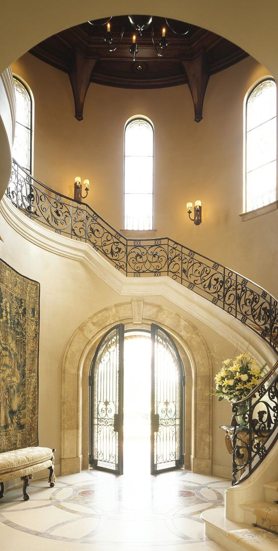Front Foyer Staircase : Foyer staircase design and front entrances on pinterest