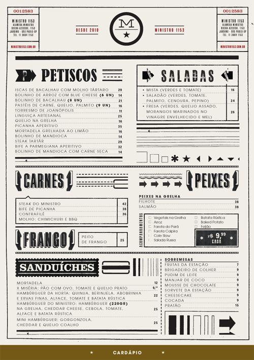 apothecary design menu