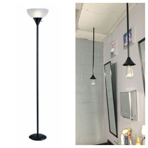 Floor lamps into drop lights