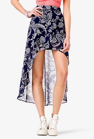 Paisley High-Low Skirt | FOREVER21 - 2038037740
