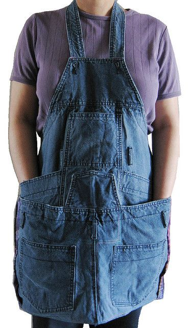 apron made from overalls: