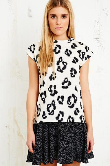 House of Hackney Sleeveless Tee in Leopard at Urban Outfitters