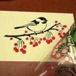 Cartão do feriado Fazendo com Stencils!