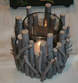 Teelicht kerzenst nder zum selberbasteln dekorative for Winter gartendeko