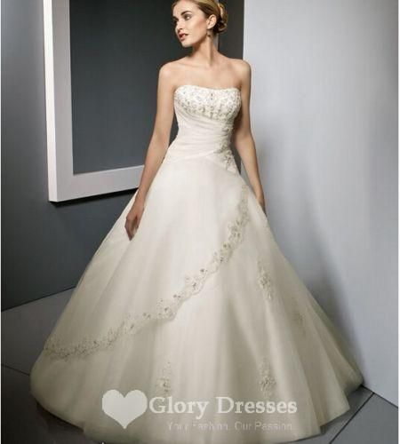 Find More Wedding Dresses Information about Stylish A line Lace Up Silk Blend Wedding Dress beading Strapless Beading Bridal Gowns Custom Size 2 4 6 8 10 12 14 16+,High Quality Wedding Dresses from Vivid Marts Co Ltd on Aliexpress.com