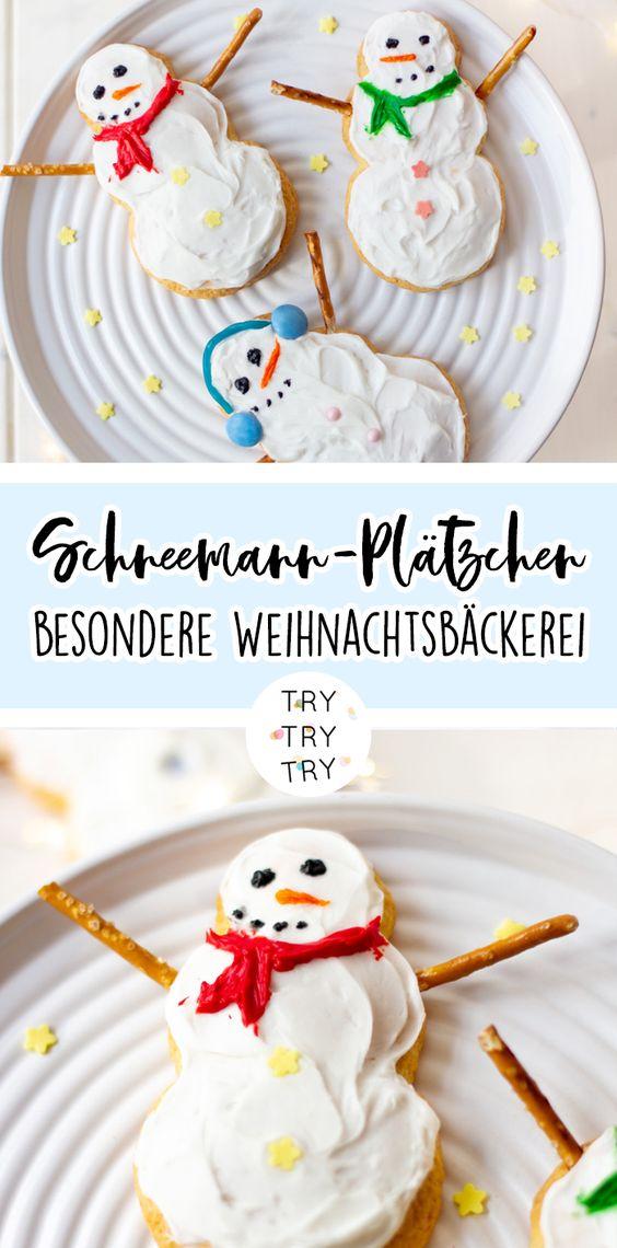 Schneemann-Plätzchen