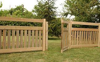 wooden garden fencing - Google Search