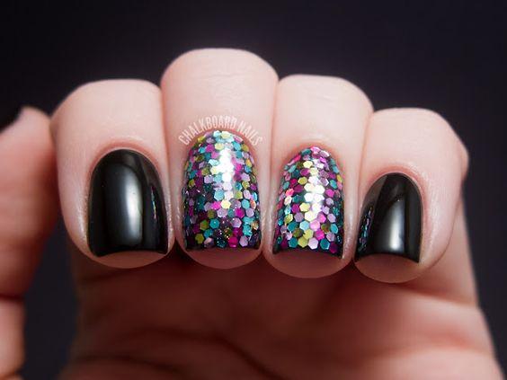Chalkboard Nails: Day 17, Glitter