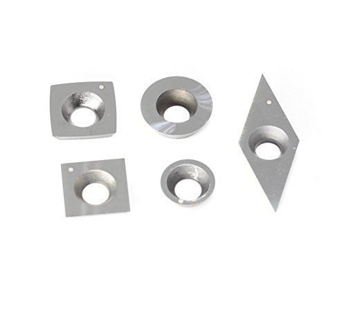 3pcs Round Carbide Insert Cutter 16mm for Ci0 Easy Wood Tools with Screws