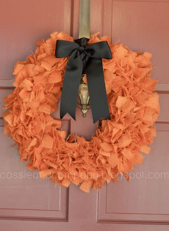 We Need A Pretty Wreath Cassie Co Fall Rag Wreath