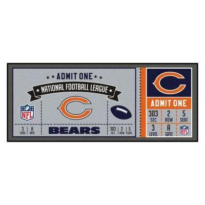 Fanmats Nfl Chicago Bears 30 In X 72 In Indoor Ticket Runner