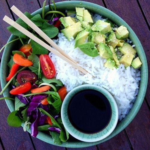 Sushi bowl, Veggie sushi and Sushi on Pinterest