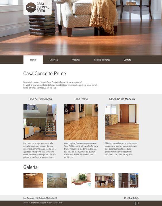 Criação e desenvolvimento do site da empresa Casa Conceito Prime. Trabalho realizado na empresa Avanti. Para ver o site, acesse www.casaconceitoprime.com.br