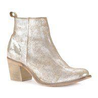 Boots in metallic leer