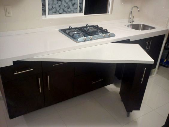 Sliding Table Kitchen Kitchen Remodel Small Kitchen Design