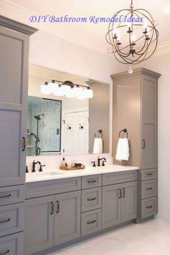 15 Incredible Diy Ideas For Bathroom Makeover Bathroom Vanity Designs Bathroom Remodel Master Small Bathroom Remodel