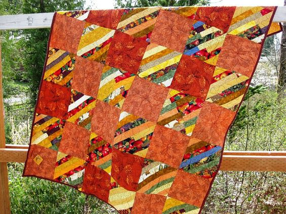 Harvest HANDMADE Quilt by BsTextiles on Etsy