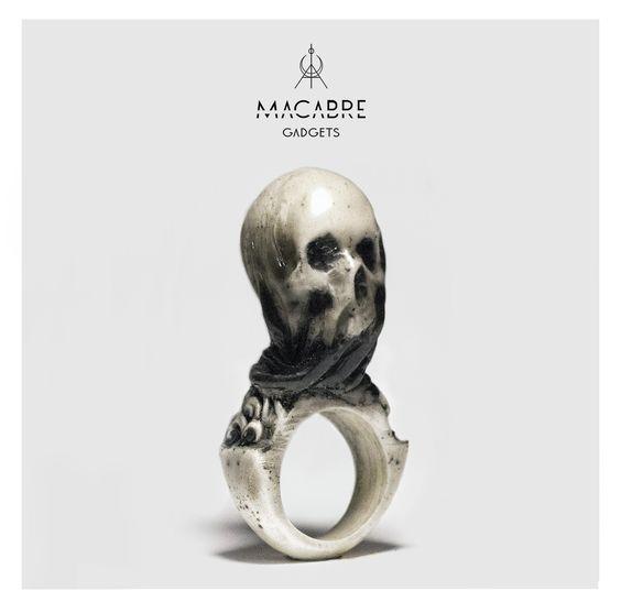 'Veil' ring by Macabre Gadgets facebook.com/MacabreGadgets #skull #ring #mcabregadgets #jewels #fashion #bone