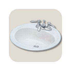 Briggs Homer White Enameled Steel Drop In Round Bathroom Sink With Overflow 255881 Steel