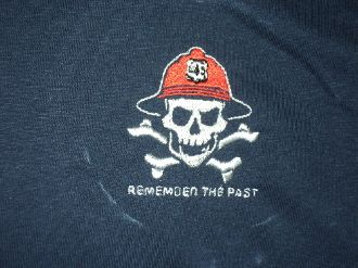 Skull and Crossbones Remember the Past Wildland Fire T-Shirt