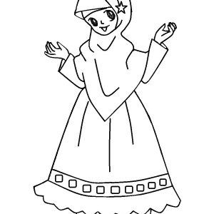 22 Gambar Kartun Wanita Muslimah Anak Cemerlang Wallpaper Anime