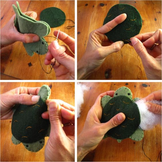 Make your own felt animals... You could make it into a pincushion! So cute!