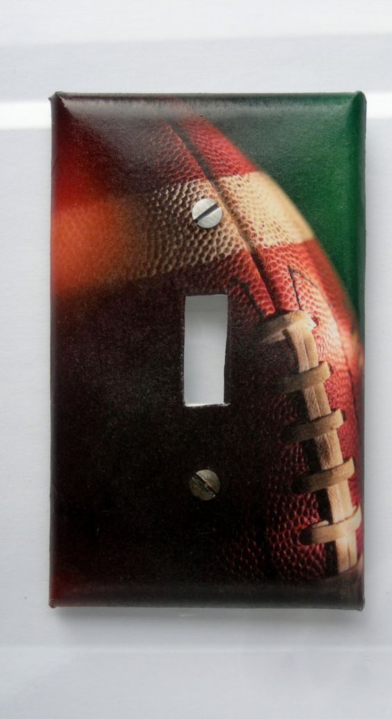 Football Touchdown Decorative Light Switch Cover  by Nikalette, $7.00
