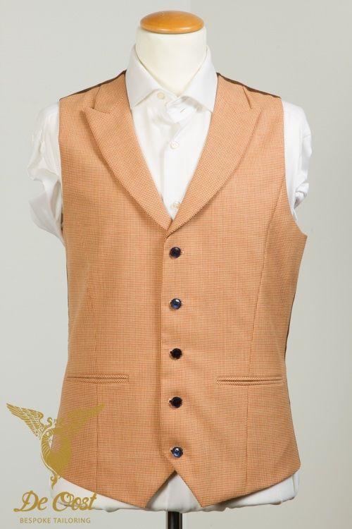 Herringbone Jacket with Houndstooth Waistcoat Visgraat Jasje met Pied-de-Poule Vest