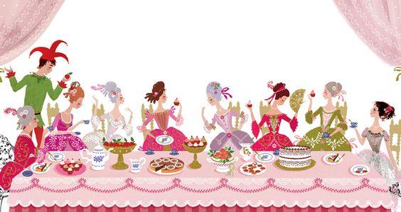 The princesses dining - Sarah Gibb: