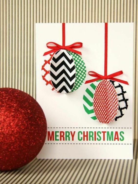 weihnachtskarten basteln 3d weihnachtskugeln aus papier felicitari cards pinterest. Black Bedroom Furniture Sets. Home Design Ideas