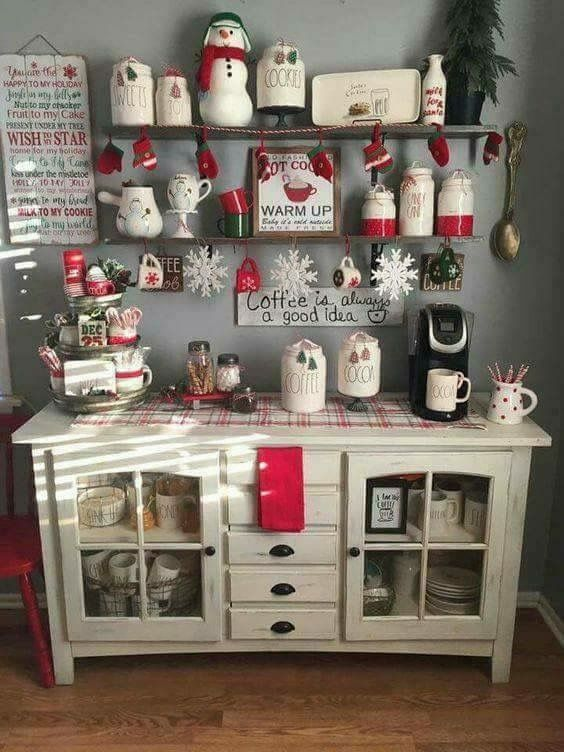 Hot Chocolate Bar Farmhouse Christmas Kitchen Christmas Kitchen Decor Christmas Home