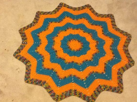Ripple Star Blanket from Bonnie's Story about how crochet heals