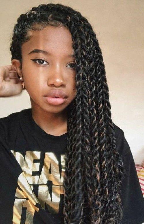 Little Black Girls 40 Braided Hairstyles Twist Braid