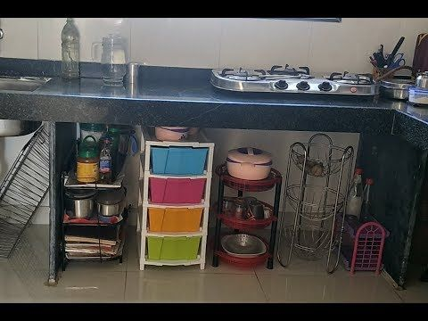 Kitchen Tour How To Organise Unfurnished Kitchen Without Cabinets Youtube Kitchen Countertop Organization Simple Kitchen Design Small Kitchen Decor