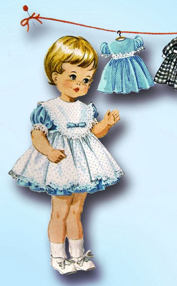 1960s Vintage McCalls Sewing Pattern 7592 Teenie Tiny Tears 12 Inch Doll Clothes…