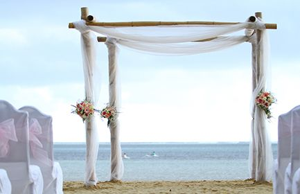 Mariage ile maurice c r monie plage d coration de l 39 arche mariage plage - Decoration arche mariage ...