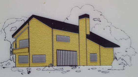 Színek a természetből: K22B weberdeco365 színű családi ház