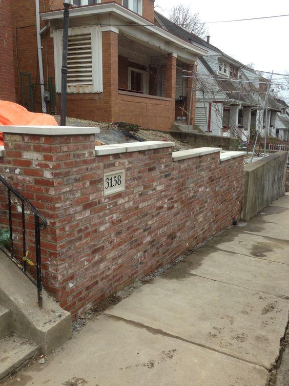 Brick Veneer Retaining Wall Retaining Wall Brick Veneer Bluestone Steps