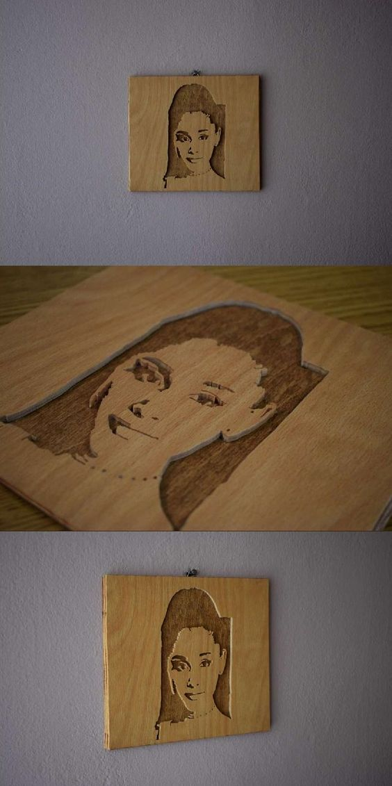 Making Ariana Grande Wall Picture Woodworking Project Scroll Saw Picture