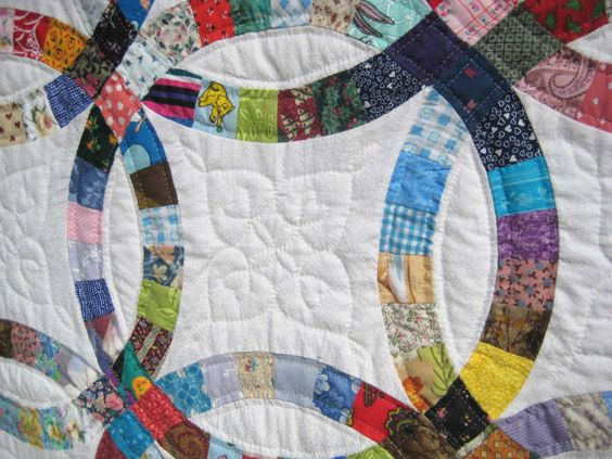 Hand Quilted Double Wedding Ring Quilt by RTCreations2847 on Etsy