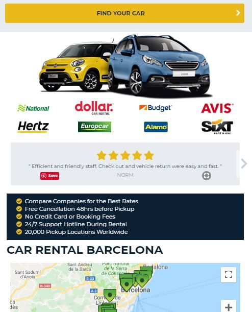 Car Rental Compare >> Start Your Travel Planning Here Compare Rates Shop Name