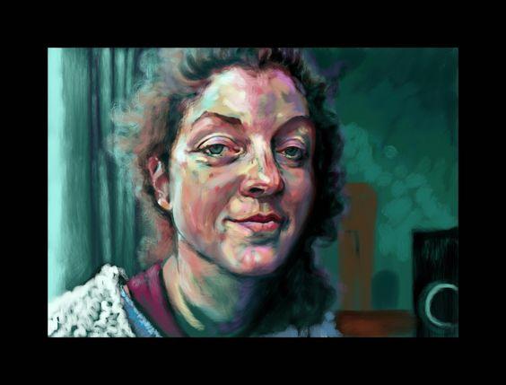 'Lisa' Skype painting, London 2015
