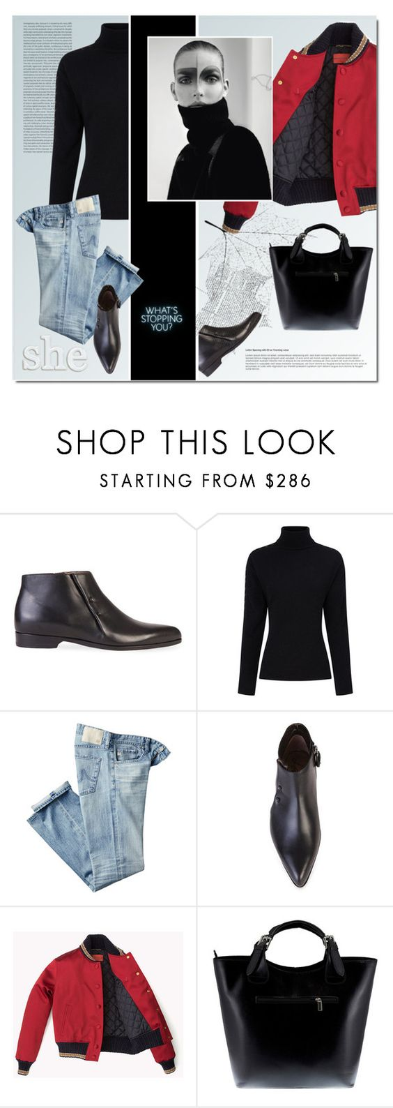 """my style"" by drn57 ❤ liked on Polyvore featuring Lanvin, Preen, AG Adriano Goldschmied, Massimo Castelli and MyStyle"