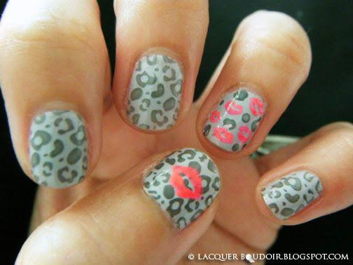 : Cheetah Lips, Cheetah Print, Cheetah Nails, Leopard Print Nails, Nailss, Nail Design, Cheetah Kisses, Kiss Nails