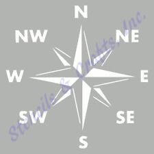 """COMPASS STENCIL NAUTICAL OCEAN SEA MARINE BEACH STENCILS TEMPLATE NEW 8"""" x 10"""""""