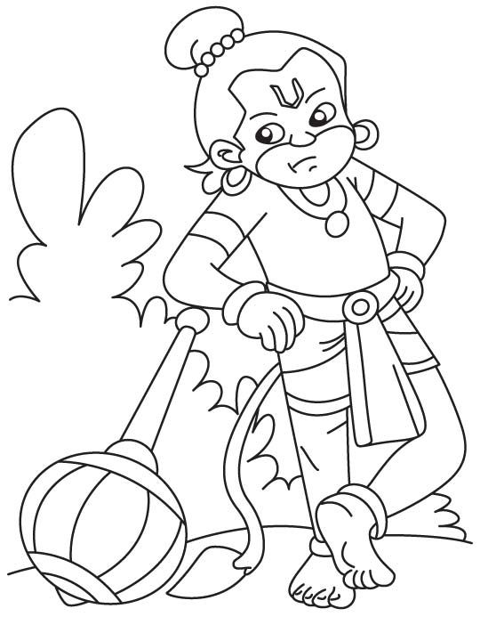 Bal Coloring Hanuman Pages 2020